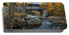 Flume Gorge Covered Bridge Portable Battery Charger by Jeff Folger