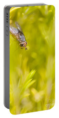 Fly Insect In Amongst A Flurry Of Yellow Leaves Portable Battery Charger