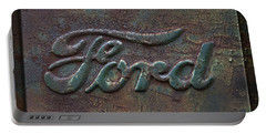 Detail Old Rusty Ford Pickup Truck Emblem Portable Battery Charger