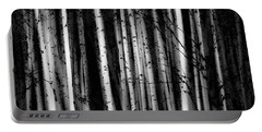 Forest Of Birch Trees  Alberta, Canada Portable Battery Charger