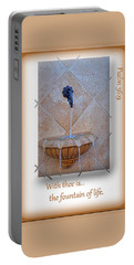 Portable Battery Charger featuring the photograph Fountain Of Life by Larry Bishop