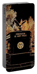Portable Battery Charger featuring the photograph Freedom Is Not Free by Kelly Awad