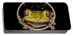 Portable Battery Charger featuring the photograph Frog by Olga Hamilton
