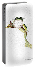 Frog On Waterline Portable Battery Charger