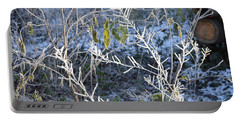Portable Battery Charger featuring the photograph Frozen by Felicia Tica