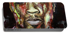 Portable Battery Charger featuring the painting Get Rich Or Die Tryin' by Laur Iduc