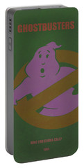Portable Battery Charger featuring the digital art Ghostbusters Movie Poster by Brian Reaves