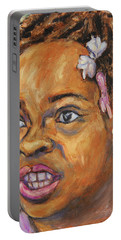 Girl With Dread Locks Portable Battery Charger