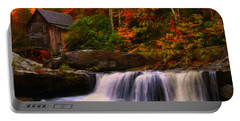Glade Creek Grist Mill Portable Battery Charger by Chris Flees