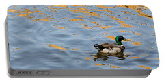 Portable Battery Charger featuring the photograph Golden Ripples by Keith Armstrong