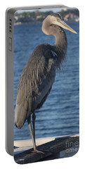 Portable Battery Charger featuring the photograph Great Blue Heron  by Christiane Schulze Art And Photography