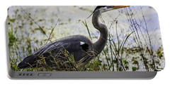 Great Blue Heron Portable Battery Charger by Fran Gallogly
