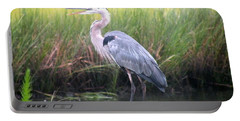 Portable Battery Charger featuring the photograph Great Blue Heron by Kim Bemis