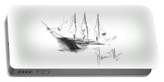 Great Men Sailing Portable Battery Charger by Laurie L