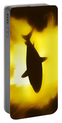 Portable Battery Charger featuring the digital art Great White  by Aaron Berg