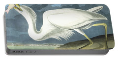 Great White Heron Portable Battery Charger by John James Audubon