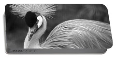 Grey Crowned Crane Portable Battery Charger by Venetia Featherstone-Witty