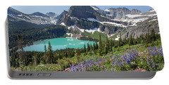 Grinnell Lake Flowers Portable Battery Charger