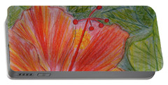 Hand Drawn Hibiscus Color Pencil Portable Battery Charger