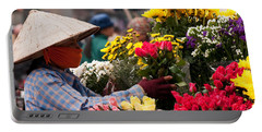 Hanoi Flowers 03 Portable Battery Charger