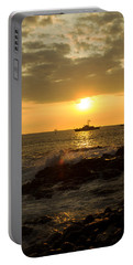 Hawaiian Waves At Sunset Portable Battery Charger