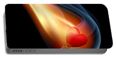 Heart Series Love Flaming Hearts Portable Battery Charger