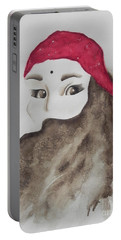 Portable Battery Charger featuring the painting Hidden by Chrisann Ellis