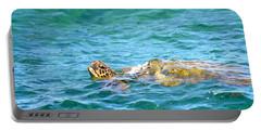 Portable Battery Charger featuring the photograph Honu Hawaiian Green Sea Turtle by Lehua Pekelo-Stearns