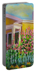 Hot Hollyhocks Portable Battery Charger