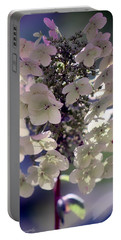 Hydrangea  Portable Battery Charger by Debra Forand