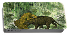 Iguanodon Biting Megalosaurus Portable Battery Charger