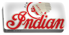 Indian Motorcycle Logo Portable Battery Charger