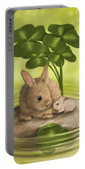 Island Of Happiness Portable Battery Charger by Veronica Minozzi