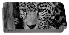 Jaguar In Black And White II Portable Battery Charger by Sandy Keeton