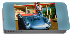James Dean Filling His Spyder With Gas Portable Battery Charger