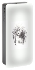 Portable Battery Charger featuring the drawing Just Me by Laurie L