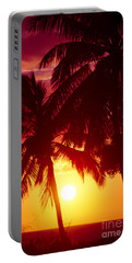 Portable Battery Charger featuring the photograph Kamaole Nights by Sharon Mau