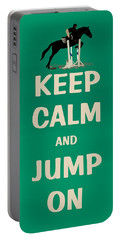 Keep Calm And Jump On Horse Portable Battery Charger