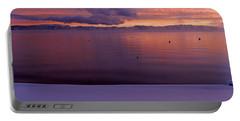Lake At Sunset, Lake Tahoe, California Portable Battery Charger
