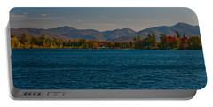 Lake Placid And The Adirondack Mountain Range Portable Battery Charger