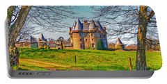Portable Battery Charger featuring the photograph Chateau De Landale by Elf Evans