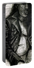 Leather Jacket Portable Battery Charger