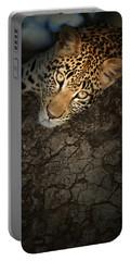 Leopard Portrait Portable Battery Charger