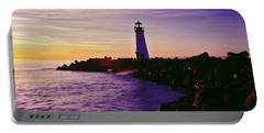 Lighthouse On The Coast At Dusk, Walton Portable Battery Charger