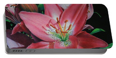 Lily's Garden Portable Battery Charger by Pamela Clements