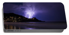 Lightning Over The Ocean Portable Battery Charger