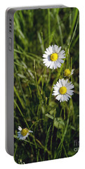 Little White Daisies Portable Battery Charger by Cindy Garber Iverson