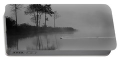 Loch Ard Trees In The Morning Mist Portable Battery Charger