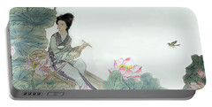 Portable Battery Charger featuring the photograph Lotus Pond by Yufeng Wang