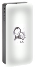 Portable Battery Charger featuring the drawing Love by Laurie L